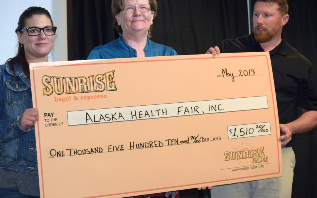 Alaska Health Fair Receives Sunrise Cares Charity of the Month Award!