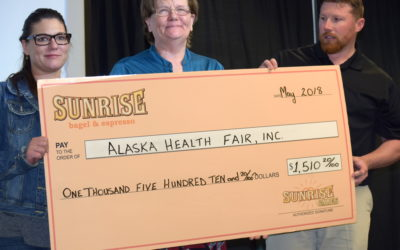 Alaska Health Fair Receives Sunrise Cares Charity of the Month Award!
